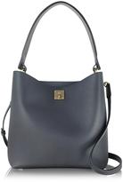 MCM Milla Phantom Gray Leather Medium Hobo Bag