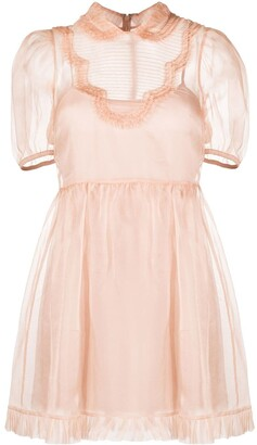 RED Valentino Frill-Trimmed Flared Dress