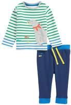 Mini Boden Animal Applique Jersey T-Shirt & Pants Set