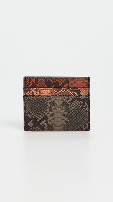 Madewell The Leather Card Case: Colorblock Snake Embossed Edition