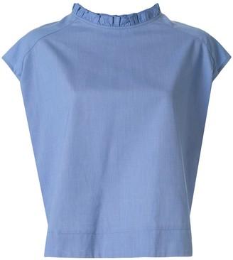 Atlantique Ascoli back button blouse