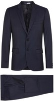 Ps By Paul Smith Navy Pin-dot Wool Suit
