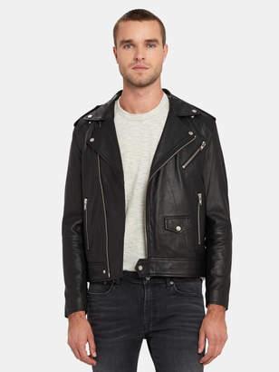 Deadwood River Tonal Leather Biker Jacket