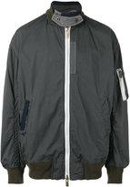 Sacai over-dyed bomber jacket - men - Cotton/Nylon/Polyester/Wool - 2