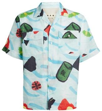 Marni Ocean Print Casual Shirt