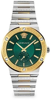 Versace Greco Logo Two-Tone Chronograph Bracelet Watch