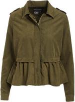 Live A Little Women's Non-Denim Casual Jackets olive - Olive Peplum-Hem Jacket - Women
