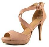 Material Girl Helenah Women Open Toe Synthetic Pink Platform Heel.