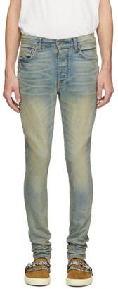 Amiri Indigo Half Track Jeans