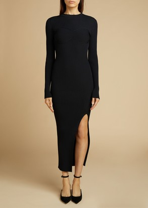 KHAITE The Evlynne Dress in Black