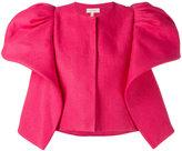 DELPOZO structured shoulder jacket - women - Cotton/Linen/Flax - 38
