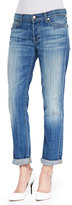 7 For All Mankind Josefina Slim Boyfriend Jeans, Bright Light Broken Twill