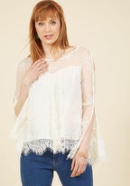 ModCloth Free for High Tea Lace Top in L