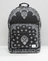 Spiral Backpack with Bandana Print