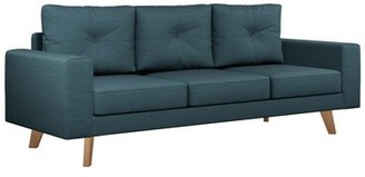 "Binns 75.75"" Square Arm Sofa Corrigan Studio Upholstery Color: Light Steel, Leg Color: Natural"