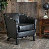 Christopher Knight Home Austin Black Bonded Leather Club Chair