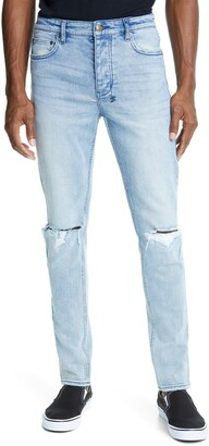 Ksubi Chitch Linx Trashed Ripped Skinny Fit Jeans