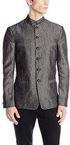 John Varvatos Men's Banded Four Pocket Hybrid Jacket
