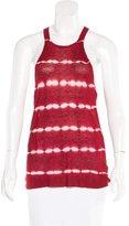 Michael Kors Tie-Dye Rib Knit Top