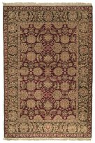Safavieh Old World Collection Handmade Burgundy and Green Wool Area Rug, 5-Feet by 7-Feet 6-Inch