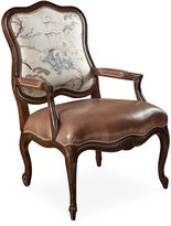 Massoud Furniture June Bergere, Saddle Leather