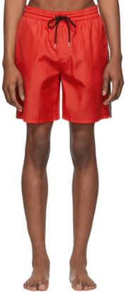 Burberry Red Grafton Swim Shorts