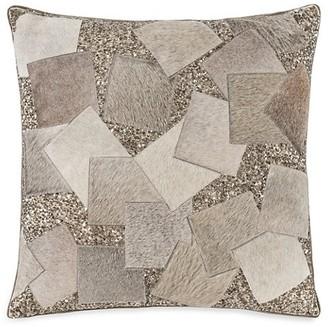 Callisto Home Akai Patchwork Calf Hair & Sequin Linen Pillow
