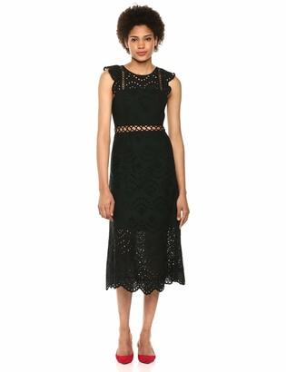 Sam Edelman Women's Sleeveless Eyelet Midi Dress