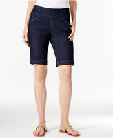 Jag Petite Ainsley Denim Bermuda Pull-On Shorts