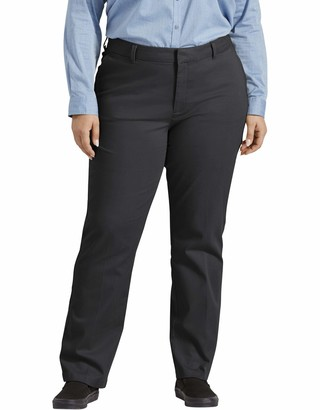 Dickies Women's Size Perfect Shape Straight Twill Pant-Plus