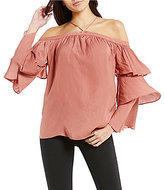 Gianni Bini Fan Fav Andy Tiered Sleeve Blouse
