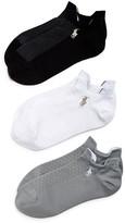 Ralph Lauren Double Tab Low-Cut Socks, Set of 3