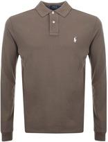 Ralph Lauren Long Sleeved Polo T Shirt Brown