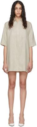 Georgia Alice Off-White Linen Pierre Shirt Dress