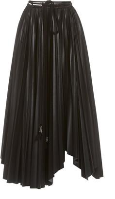 Nanushka Beeja Pleated Vegan Leather Maxi Skirt