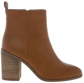 Miss Shop Chester Tan Heeled Ankle Boot