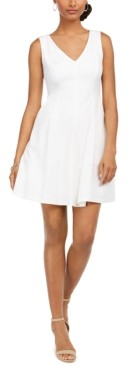 Taylor Petite Sleeveless Fit & Flare Dress