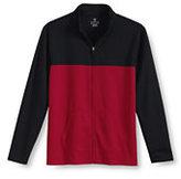 Classic Men's Big Active Colorblock Jacket-Black/Chili Pepper