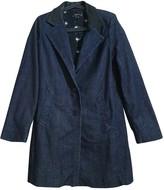 agnès b. Blue Cotton Coat for Women