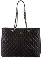 Chanel 2017 Large Quilted Shopping Tote