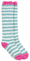 John Lewis Girls' Spot Fluffy Welly Socks, Green