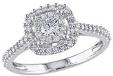 Allura 0.5 CT.T.W. Round Diamond Ring in 10K White Gold GH (I1:I2) - Tevolio