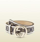 Gucci original GG canvas belt with interlocking G buckle