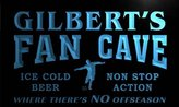 AdvPro Name th1237-b Gilbert's Football Fan Cave Man Room Bar Beer Neon Light Sign