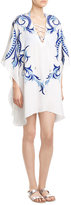 Melissa Odabash Embroidered Silk Kaftan