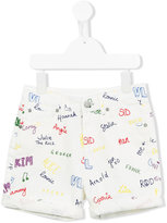Stella McCartney printed denim shorts - kids - Cotton/Elastolefin - 2 yrs