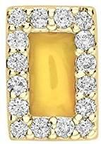 Alison Lou Women's 14 ct Yellow Gold Diamonds and Yellow Enamel Rectangle Single Stud Earring