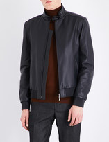 Brioni Stand-collar leather bomber jacket