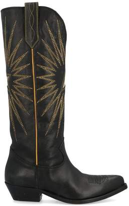 Golden Goose Embroidered Boots