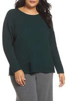 Eileen Fisher Plus Size Women's Ribbed Cashmere Sweater